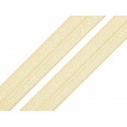 Bias elastic 18 mm (pachet 5 m) - galben vanilie