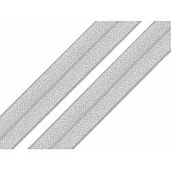 Bias elastic 18 mm (pachet 5 m) - gri