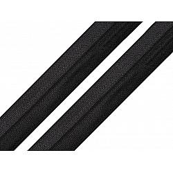 Bias elastic 18 mm (pachet 5 m) - negru
