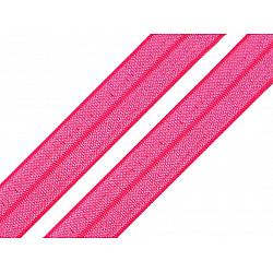 Bias elastic 18 mm (pachet 5 m) - pink - neon