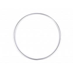 Cerc metalic pentru dreamcatchere, Ø20 cm - argintiu