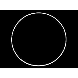 Cerc metalic pentru dreamcatchere, Ø25 cm - alb