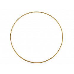 Cerc metalic pentru dreamcatchere, Ø25 cm - auriu