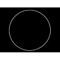 Cerc metalic pentru dreamcatchere, Ø30 cm - alb
