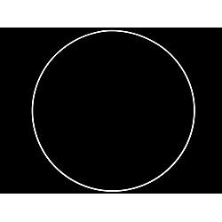 Cerc metalic pentru dreamcatchere, Ø40 cm - alb