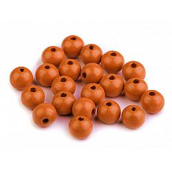 Mărgele din lemn, Ø10 mm (pachet 20 g) - portocaliu