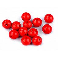 Mărgele din plastic, Ø12 mm (pachet 25 buc.) - roșu