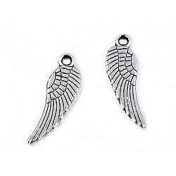 Pandantiv / Charm aripă de înger, 5x17 mm (pachet 20 buc.)