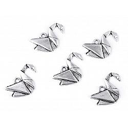 Pandantiv Origami, Lebădă (pachet 5 buc.)