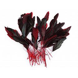 Pene decorative cocoș, lungime 13-18 cm, (pachet 50 buc.) - roșu