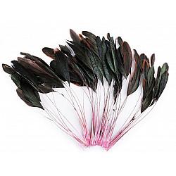 Pene decorative cocoș, lungime 13-18 cm, (pachet 50 buc.) - roz deschis