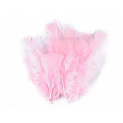 Pene decorative de curcă, lungime 11-17 cm (pachet 20 buc.) - roz deschis