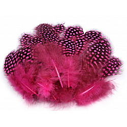 Pene decorative de găină, lungime 5-13 cm (pachet 20 buc.) - roz strident