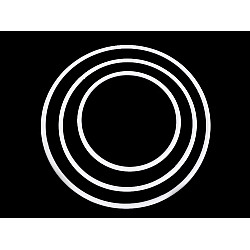 Set 3 cercuri din plastic alb