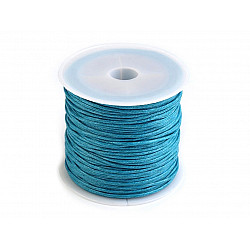 Șnur din bumbac cerat, Ø 0.8 mm (rola 25 m) - albastru deschis