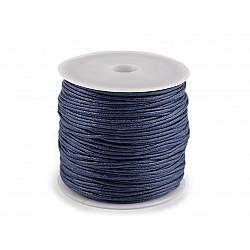 Șnur din bumbac cerat, Ø 0.8 mm (rola 25 m) - bleumarin