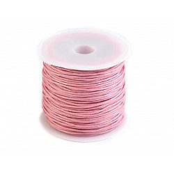 Șnur din bumbac cerat, Ø 0.8 mm (rola 25 m) - roz deschis