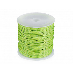 Șnur din bumbac cerat, Ø 0.8 mm (rola 25 m) - verde deschis