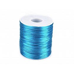Șnur satinat, Ø1 mm (rola cca. 80 - 100 m) - albastru intens