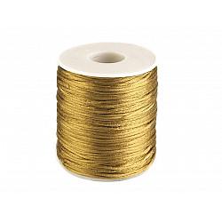 Șnur satinat, Ø1 mm (rola cca. 80 - 100 m) - auriu