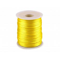 Șnur satinat, Ø1 mm (rola cca. 80 - 100 m) - galben