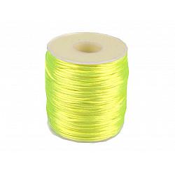 Șnur satinat, Ø1 mm (rola cca. 80 - 100 m) - galben - neon