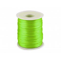 Șnur satinat, Ø1 mm (rola cca. 80 - 100 m) - verde electric