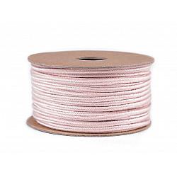 Șnur soutache din bumbac, lățime 4 mm (rola 20 m) - roz pudrat