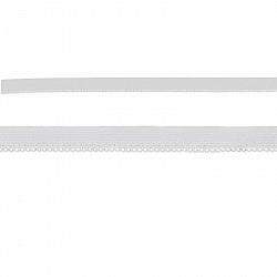 Elastic dantelat, 1cm - Alb