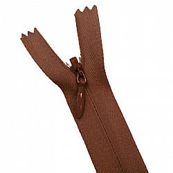 Fermoar ascuns - 20cm, Maro ciocolata