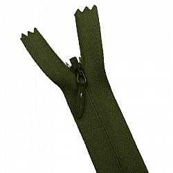 Fermoar ascuns - 20cm, Verde-inchis