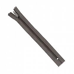 Fermoar clasic - 20cm, Gri-inchis