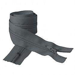 Fermoar clasic - 50cm, Gri-inchis