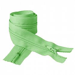 Fermoar clasic - 50cm, Verde pal