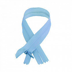 Fermoar ascuns - 50cm, Bleu