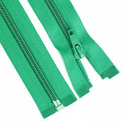 Fermoar detasabil spiralat, 5mm - 90cm, Verde-deschis
