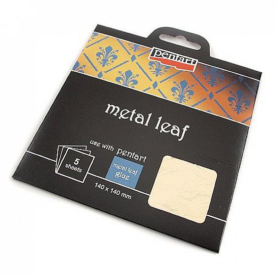 Foita metalica, 14x14 cm, 5 foi - Argintie