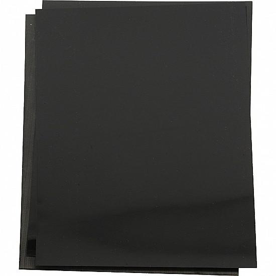 Folii din plastic care se micsoreaza (Shrink Plastic), 20x30 cm, negru mat, 10 Buc.