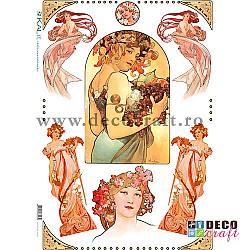 Hartie de orez A4 - Art Nouveau 2