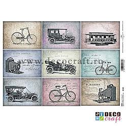 Hartie de orez A4 - Biciclete si masini vintage