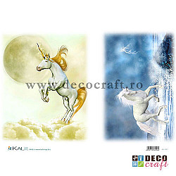 Hartie de orez A4 - Calul alb si unicornul