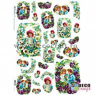 Hartie de orez A4 - Copii si flori