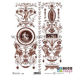 Hartie de orez A4 - Decoratiuni sepia