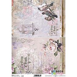 Hartie de orez A4 - Flori, pasari si scrisori