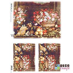 Hartie de orez A4 - Flori si scoici