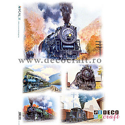 Hartie de orez A4 - Locomotive