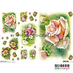 Hartie de orez A4 - Pictura cu floricele (8img.)