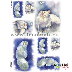 Hartie de orez A4 - Pisica aristocrata