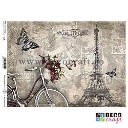 Hartie de orez A4 - Prin Paris cu bicicleta