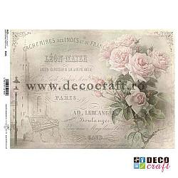 Hartie de orez A4 - Scrisoarea cu trandafiri